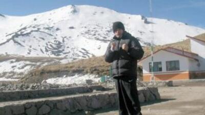 Jhonny entrena en la altura del Nevado de Toluca (Foto: Promociones del...