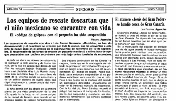 El periódico ABC de octubre de 1985