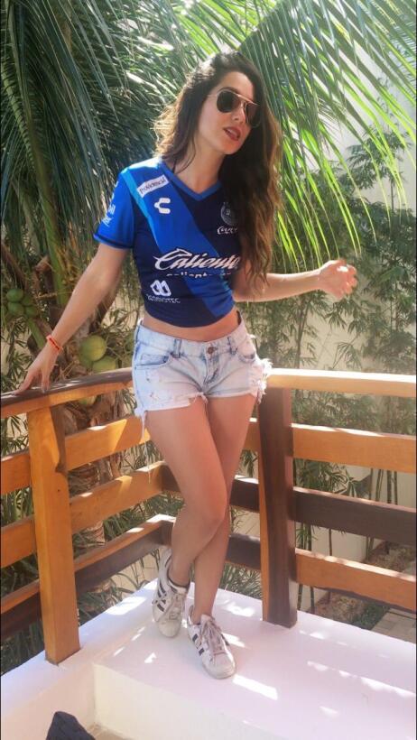 La hermosa Ana Laura Gallardo es, quizás, la fanática más sensual que ti...