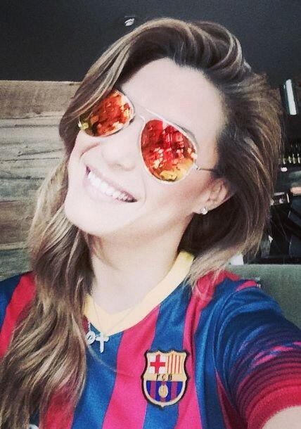 Como buena argenitna, Rosina es amante del fútbol y así se...