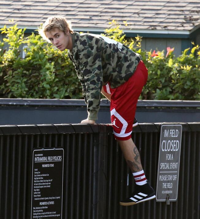 Y con esta mirada, Justin Bieber se marchó.