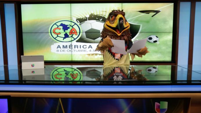 Una visita de altos vuelos, la mascota de las Águilas del América estuvo...