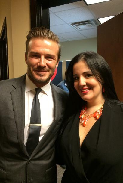 Beckham y Yesenia Robles, Business Manager, Univision Radio