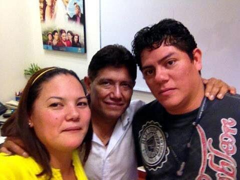 Juan Osorio y su hijo Juan
