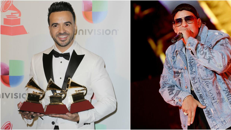 Los cantantes Luis Fonsi y Daddy Yankee