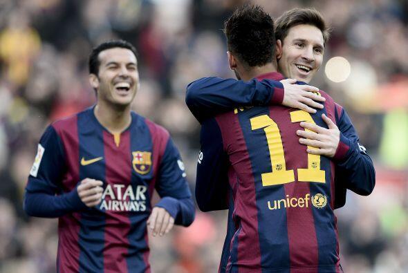 El 15 de febrero el Barça otra vez había ganado con una 'manita'. 5-0 al...