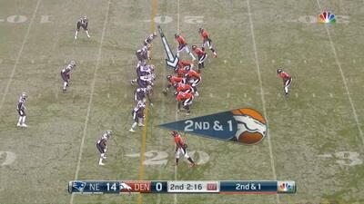 Juegazo del guardia Max García de Broncos en la Semana 12 ante Patriots