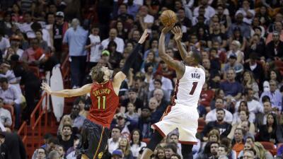 Bosh anotó 18 puntos y el Heat de Miami hilvanó su cuarta victoria seguida.