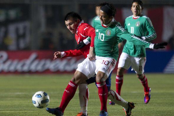 Para esa edición México y Chile volvieron a compartir grupo y en el part...