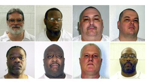 Estos son los ocho reclusos que serán ejecutados (de izquierda a...