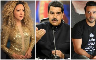 Erika Ender, Nicolás Maduro, Luis Fonsi