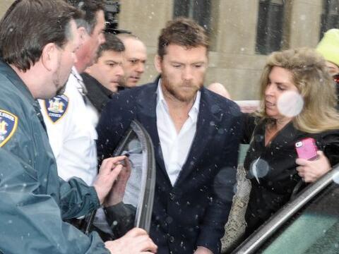 El actor australiano Sam Worthington acudió a una corte de Nueva...