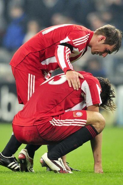 Sin embargo, los goles de visitante le estaban dando el pase al aún camp...