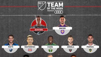 Con Darwin Quintero e Ignacio Piatti como abanderados, este es el Equipo de la Semana en MLS