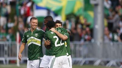 Portland Timbers celebra un gol