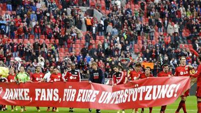 Bayern Leverkusen agradece a los aficionados por el apoyo a lo largo de...