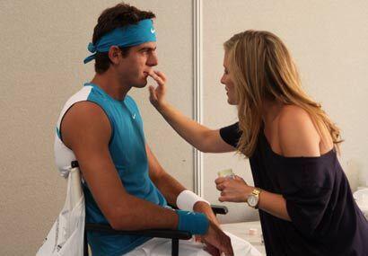 Así se va parte del día de tenistas como el argentino Juan Martín Del Po...