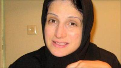 Nasrin Sotoudeh, abogada iraní, defensora de los derechos humanos. Foto...