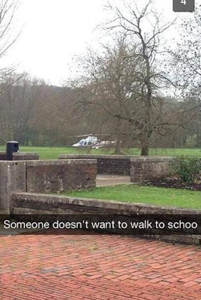 Alguien no quiere ir en auto a la escuela.