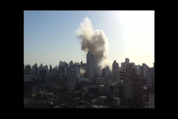 Esta imagen de Pablo Leonetti deja ver la columna de humo.
