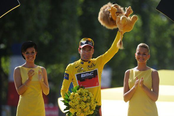 Evans cumplió a los 34 años el sueño de subir a lo más alto del podio en...