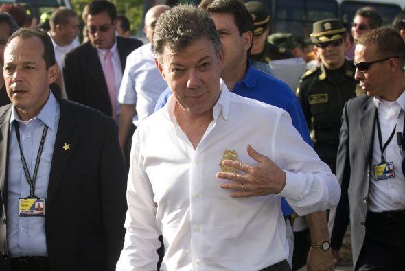 El presidente de Colombia, Juan Manuel Santos, confesó este s&aac...