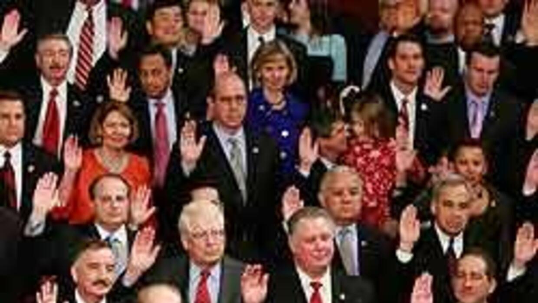 Los nuevos miembros del Congreso se juramentaron durante una solemne cer...