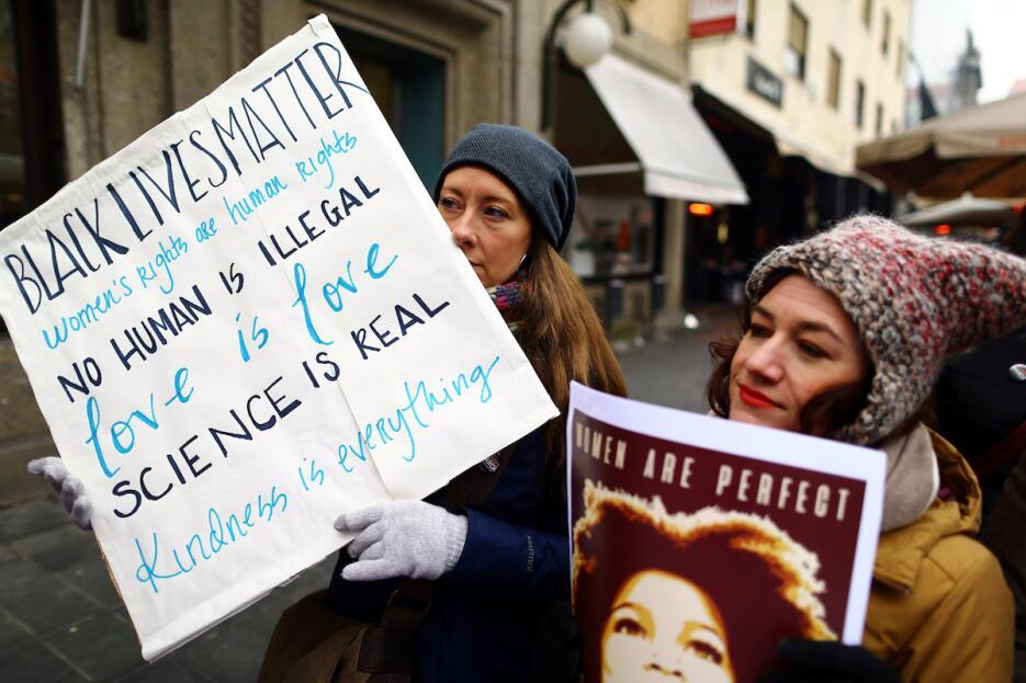 En Zagreb, Croacia, respondieron al llamado de las mujeres de Washington