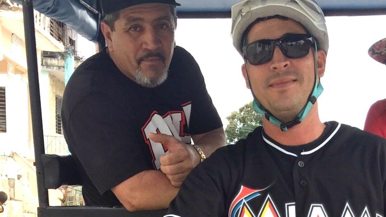 Yordan Gomez and his father Osmani Gomez in Santa Clara