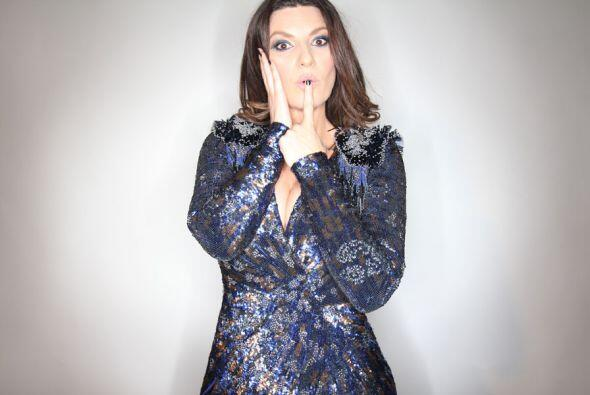 Laura Pausini con ese buen humor que la caracteriza.