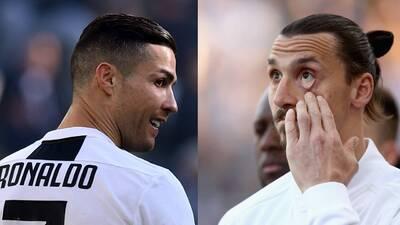 """Zlatan Ibrahimovic se burla de Cristiano: """"Jugar en la Juventus no es un desafío"""""""