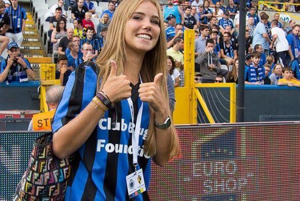 Axelle Despiegelaere, aficionada belga, se dio conocer durante la Copa d...
