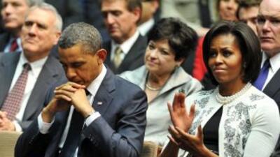 El presidente de Estados Unidos, Barack Obama rindió un homenaje a las v...