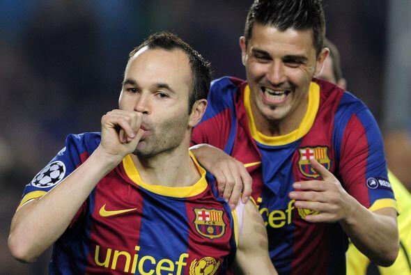Con sólo un minuto jugado, Andrés Iniesta abrió el marcador.