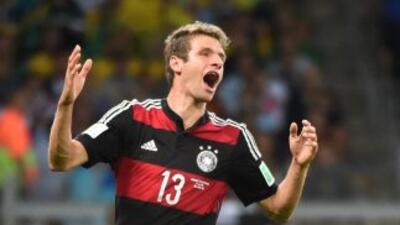 Thomas Muller ante Brasil.