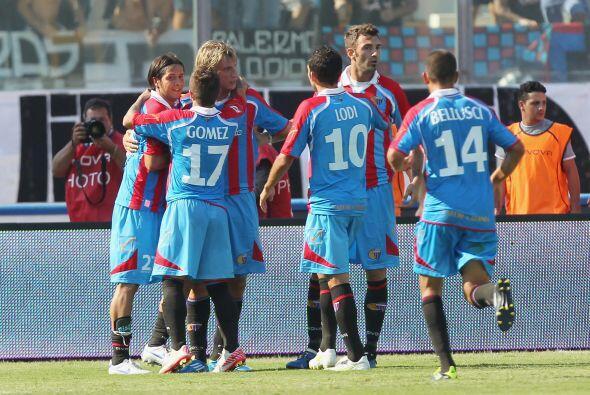 Un penalti convertido por el mismo López sirvió para que Catania se impu...