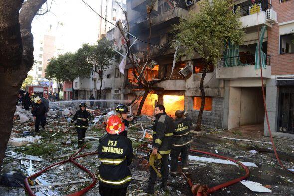 La explosión ocurrió a las 09H30 local (12H30 GMT) y pasado el mediodía...
