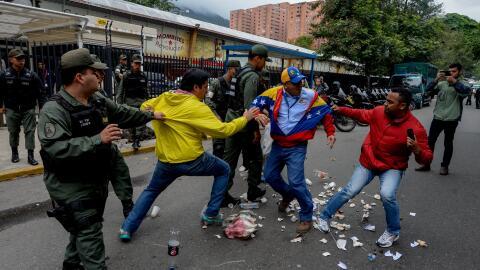 Represión de una protesta en VEnezuela.