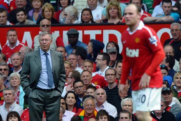 Las dos grandes figuras del 'Man-U', Ferguson y Rooney.
