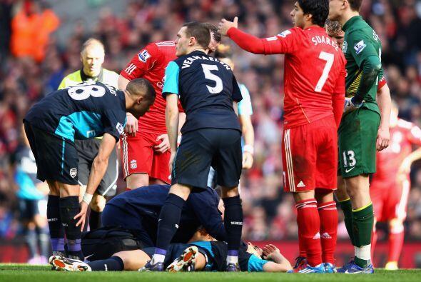 La mala noticia del juego fue la lesión de Arteta.