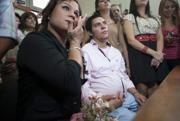 El transexual argentino Alexis Taborda, nacido mujer pero que se percibe...