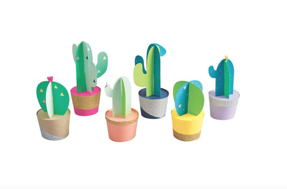 Cactus de papel Si como a nosotros, te obsesiona decorar cuando la ocasi...