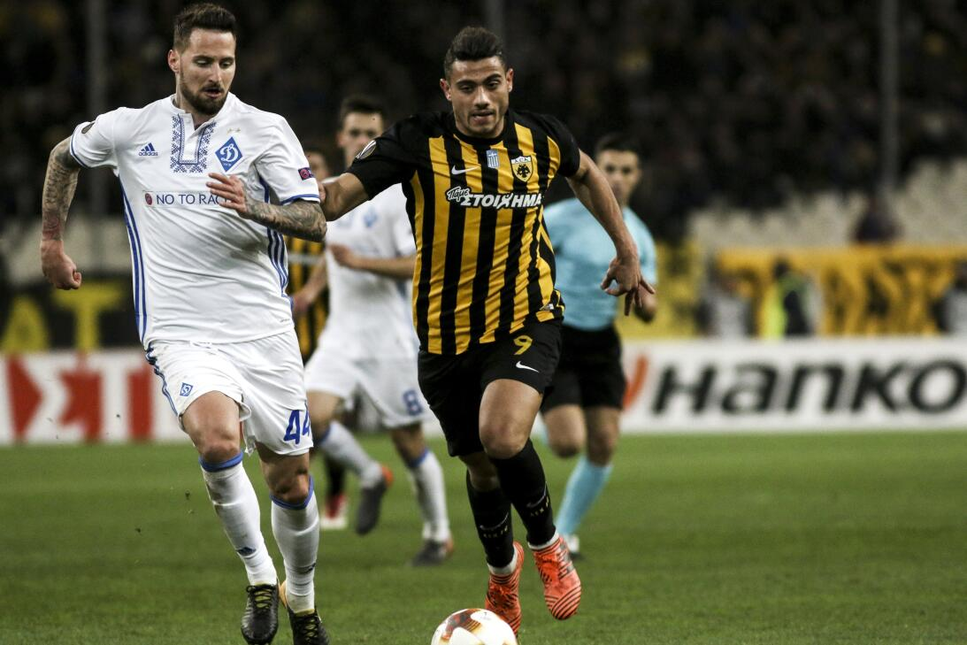 AEK Atenas 1-1 Dinamo Kiev: igualdad en Grecia con anotaciones de Ajdare...