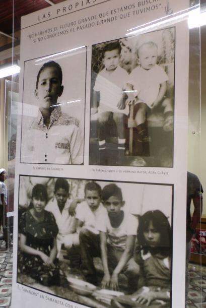 Hugo Chávez de niño.