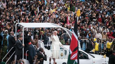 El  papa Francisco en Nairobi.
