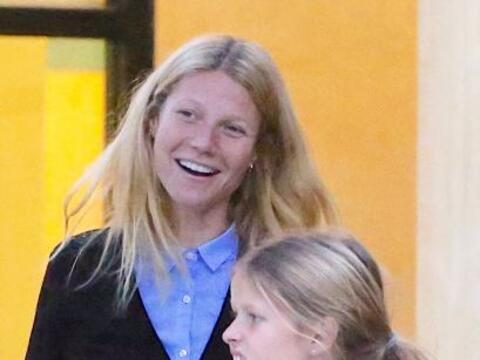 La actriz llevó a su hija Apple a un centro holístico de t...