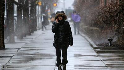 Pese a que ya han transcurrido dos semanas de primavera, la amenaza de nieve persiste en Nueva York