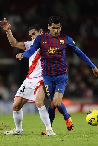 Dani Alves jugó un excelente partido y fue fundamental.
