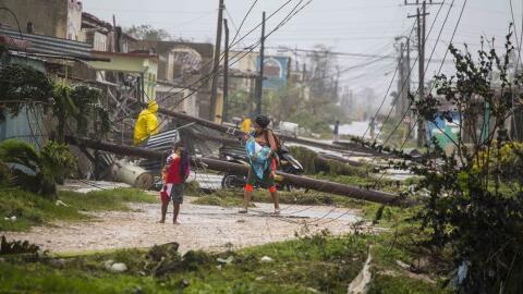 Caibarién recibió toda la fuerza de Irma como un hurac&aac...