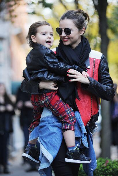 3. Chaqueta: Flynn, el hijo del actor Orlando Bloom y la modelo Miranda...